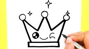 How to draw a Supper Cute Crown Step by step very easy, Draw cute things -  YouTube